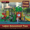 Low Cost Kids Outdoor Plastic Playground with Slide (X1434-6)