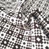 Fashionable Black and White Jacquard Fabrics