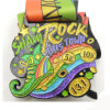 Colorful Glitteryl Sparkling Marathon Award Medal with Lanyards