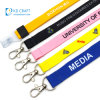 Custom Logo Printed Polyester Badge Strap Neck Ribbon Mobile Phone Printing Woven Sublimation Pink Nylon Lanyard with Keychain ID Card Holder Promotion Gift