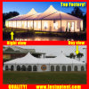 White High Peak Mixed Marquee Tent for Car Show for 500 People Seater Guest