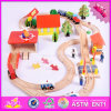 2016 Wholesale Baby Wooden Train Track Set, Funny Kids Wooden Train Track Set, 69 Pieces Wooden Train Track Set W04c057