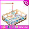 New Design Children Pretend Play Wooden Magnetic Fishing Game W01A190