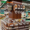 Supermarket Candy Display Rack with BPA Free Candy Cereal Gravity Dispenser