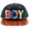 Flat Bill Sublimation Print Embroidery Snap Back Baseball Cap (TMFL0571-1)