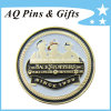 Soft Enamel Metal Coin with Gold Plating, Challenge Coin
