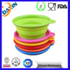 2015 New Unbreakable Collapsible Silicone Pet Bowl