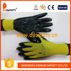 Ddsafety 2017 13 Gauge Yellow Nylon Shell Black Nitrile Coating Gloves