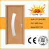 Glass Designs Interior Flat PVC Internal Door with Frame (SC-P153)