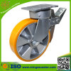 Total Brake Trolley PU Wheel Caster