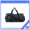 Causal Canvas Black Duffel Bag for Travel & Sports