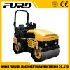 3 Ton Small Double Drum Vibratory Road Roller with Electric Start (FYL-1200)