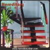 The Glass Railing Staircase with Aluminum and Wood Handrail (SJ-803)