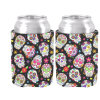 Sugar Skulls Can Cooler Various Image Neoprene Beer Can Cooler Holder Wedding and Party Decor Drink Insulator