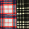 Yarn-Dyed Check Wool Fabric Overcoat