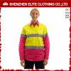 Reflective Tape 100 Cotton Pink Hi Vis Long Sleeve Shirts