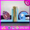 2015 Brand New Wood Rugby Bookend, Wooden Sujetalibros, Cute Wooden Rugby Bookend, Wooden Rugby Bookend for Student W08d061