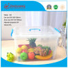 High Quality 40L Plastic Storage Box Clear Moveable Household Plastic Container with Wheels