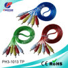 3RCA Cable 1.5m Transparent Wire AV Cable
