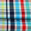 Cotton Woven Yarn Dyed Grid Check Fabric for Men Shirt