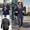 Blue Notch Lapel Custom Made Suit for Business