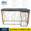 Mirrored Furniture Hallway Table Gold Marble Table Console Table