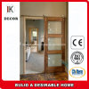 Solid Wood Stile and Rail Glass Sliding Contemporary Barn Door