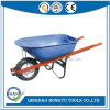 Stainless Tray Wheel Barrow with Wooden Square Handle (WB6601)