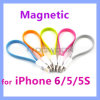 Flat Magnetic Lightning 8 Pin USB Sync Data Charging Cable for iPhone 6 5 5s 5c iPad 4 iPad Mini