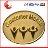 Factory Direct Sale Cheap Zinc Alloy Gold Plated Badge
