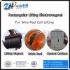 Double-Pole Rectangular Lifting Electromagnet for High Temperature Wire Rod Coil Lifting