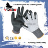 13G Black PU Coated Safety Work Glove Level Grade 3 and 5