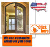 Iron Door Design Security Metal Steel Glass Exterior Gate Cheap Wrought