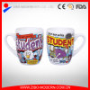 White Colored Mug with Cartoon Design