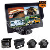 Airport Ferry Vehicle Monitor Rearview Camera System with 9-Inch Digital Quad View Screen
