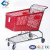 Hot Sale Plastic Supermarket Shopping Trolleys with Metal Frame