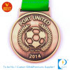 Wholesale Sport Antque Copper 3D Soccer Medal with Lanyard