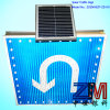 Outdoor Solar Powered Traffic Sign / Road Sign for Turn Left