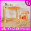 2015 Kids Study Table Chair Set, New Children Table and Chair, Best Price Dining Table Chair Wooden Furniture W08g156b