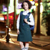 Custom Professional School Uniform Blue Dress