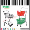 Two Tiers Basket Shopping Trolley Cart