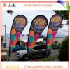 100% Polyester Teardrop Flying Banner for Advertising and Exhibition with Silk Screen Printing Flying Banner