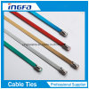 Spray Plastic Stainless Steel Cable Ties with Ce RoHS