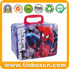 Spider-Man Rectangular Metal Box Handle Lunch Tin for Packing Gift Food Sandwich Hamburger