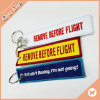 Custom Embroidered Remove Before Flight Keychain