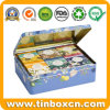 Rectangular Metal Large Storage Tea Tin Box for Food Packaging