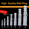 Customized Durable Screw Plastic Wall Plug Nail Expansion Anchor