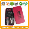 Rectangular Metal Cosmetic Tin Box for Makeup Brush Kit
