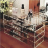 Large Clear Acrylic Jewelry Cosmetic Storage Box Organizer Display