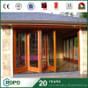 Chinese PVC Interior Folding Door Wood Color Front Garage Exterior Door Design